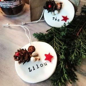 Médaillon Noël à personnaliser