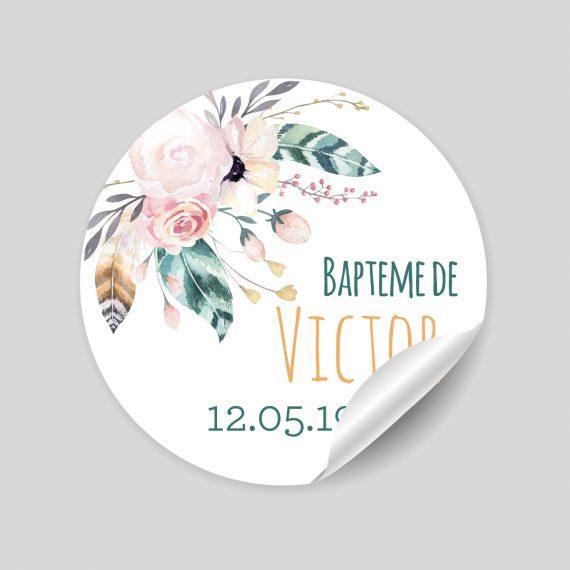 """24 stickers thème """"Simon l'ourson"""" à personnaliser"""