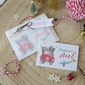 carte à planter Joyeux Noël