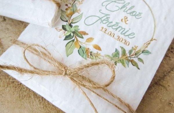 mouchoir pour les larmes de joie papier ensemencé