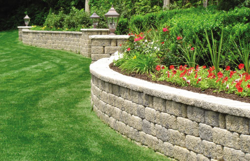 retaining wall options landscape