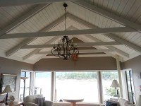 Vaulted ceiling renovation project makes the room - Arbor ...