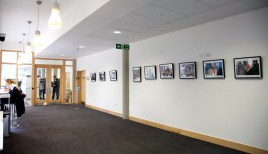 Ground floor exhibition wall