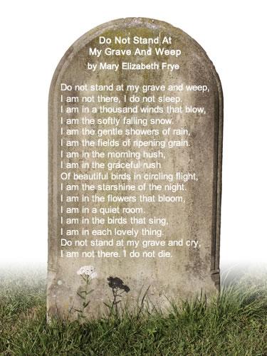 Ne Pleure Pas Devant Ma Tombe : pleure, devant, tombe, Tenez, Devant, Tombe, Pleurant, (Mary, Elizabeth, Frye), Arbrealettres
