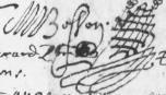 la belle signature de mon ancêtre notaire Mathurin Besson