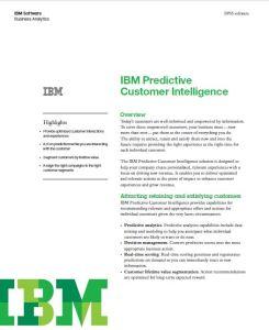 IBM Predictive Customer Intelligence