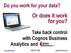 Do you work for your data? Cognos Business Analytics
