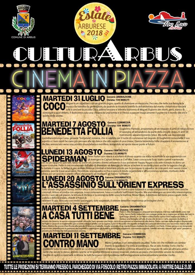 Cinema in Piazza 2018