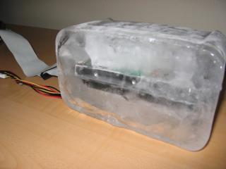 Freezing hard drive