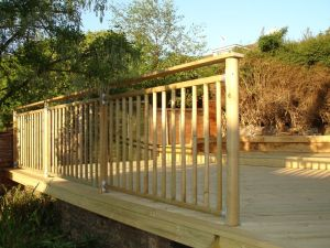 High Level handrail system for decking, Brighton & Hove, Sussex