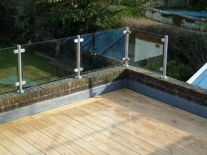 Oak roof terrace, Brighton, decking