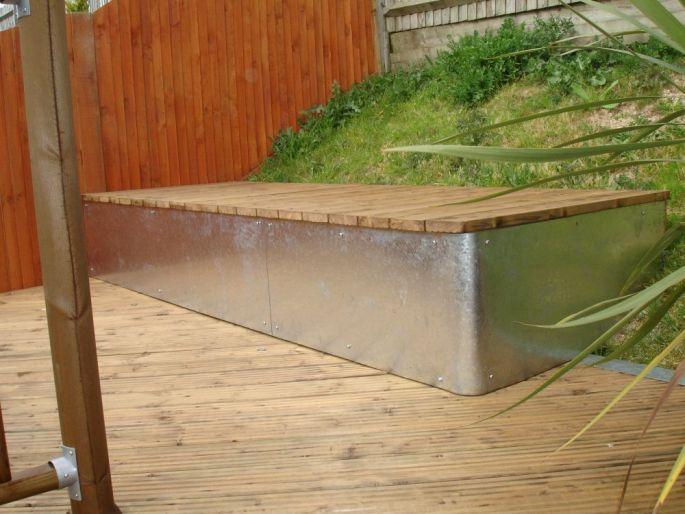 Decking bench, Portslade, Sussex