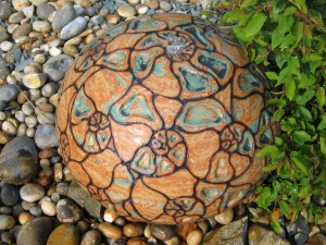 A beautiful, sea shore inspired water feature by Katrina Trinick