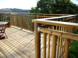 Decking platform with high level handrails, Arbworx, Worthing