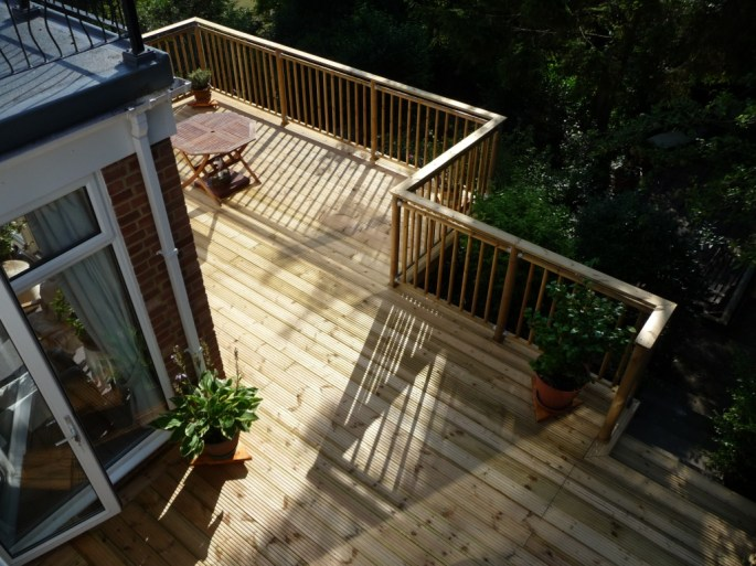 timber decking platform, Arbworx, Worthing
