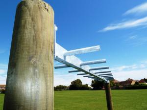Monkey bars fitted between solid timber posts