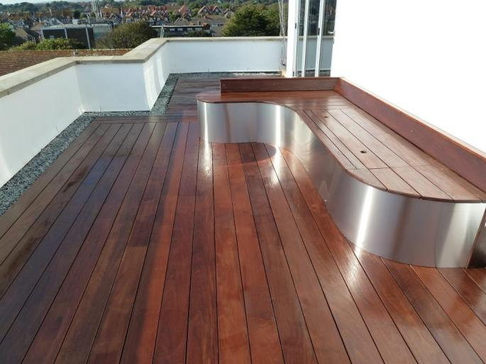 Ipe hardwood decking roof terrace, Arbworx, Sussex (5)