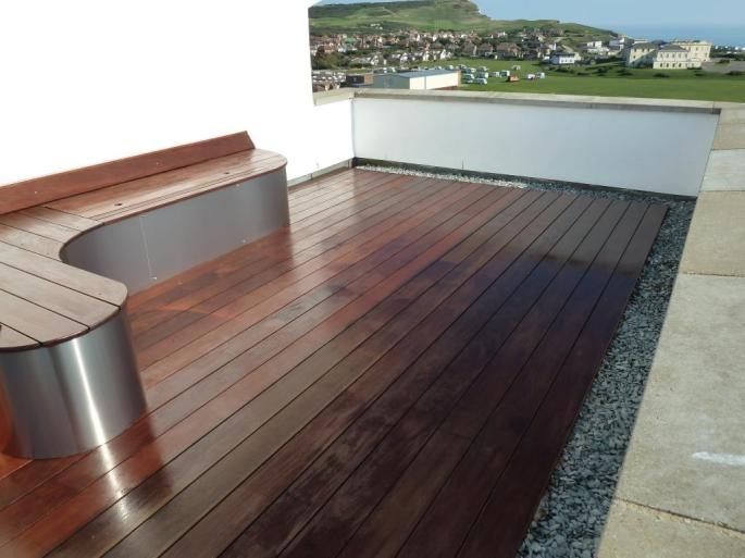 Ipe hardwood decking roof terrace, Arbworx, Sussex (2)