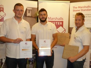 Jim, Jon and Billy with their Marshalls Register Awards