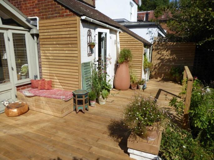 Oak decking Sussex