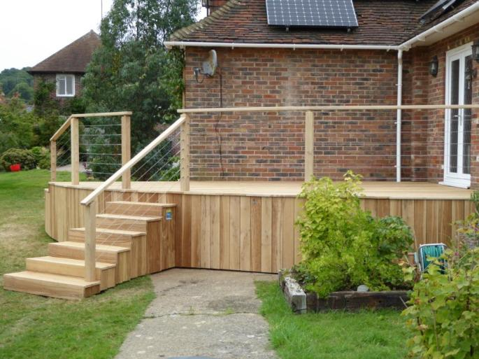 Curved Oak deck, Sussex