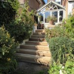 Oak clad stair case, Hove