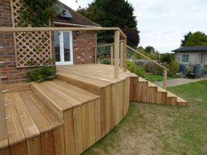Hardwood decking sussex