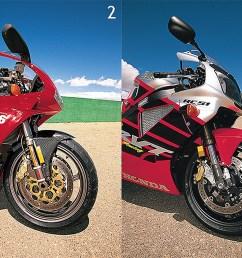 v twin comparison of the ducati 996 vs aprilia rsv mille vs honda rc51 vs suzuki tl1000r from the archives cycle world [ 2000 x 755 Pixel ]