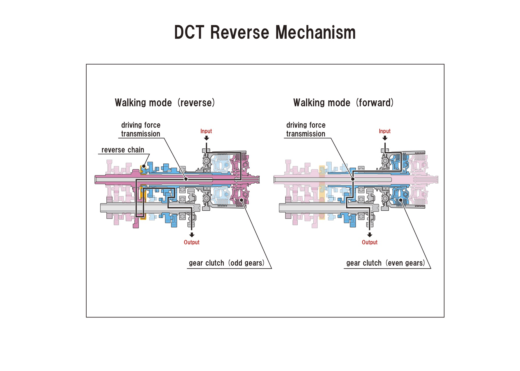 hight resolution of chain of transmission diagram