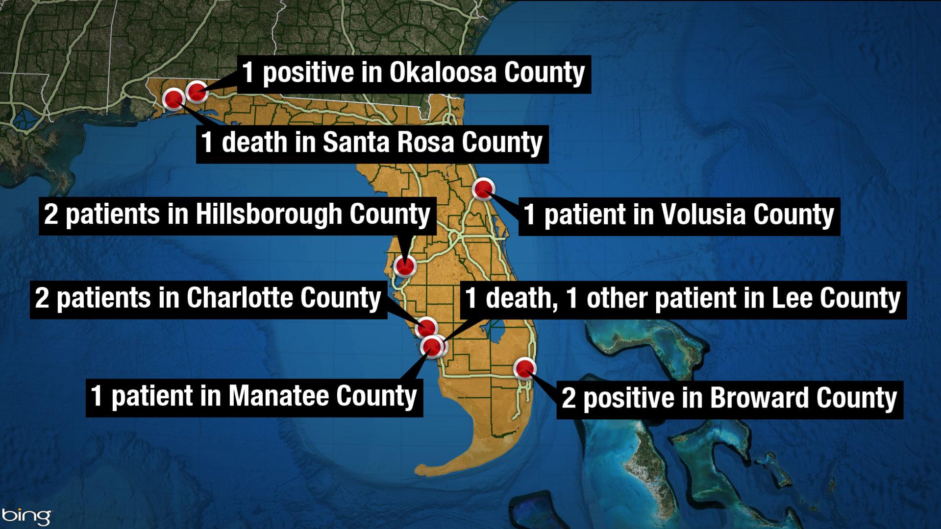 Florida announces 2 coronavirus deaths, 7 new cases in 24 hours