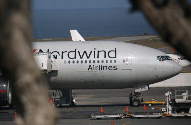 El Boeing 777-200ER de Nordwind Airlines que estuvo en Caracas sin llevar pasajeros y despertó todo tipo de rumores (Reuters/Andres Martinez Casares)