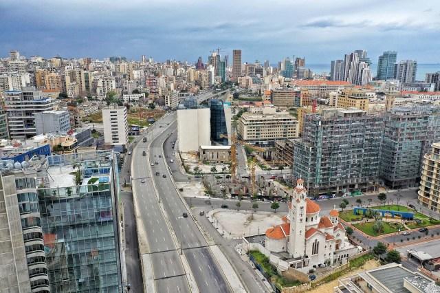 El centro de Beirut, la capital del Líbano.