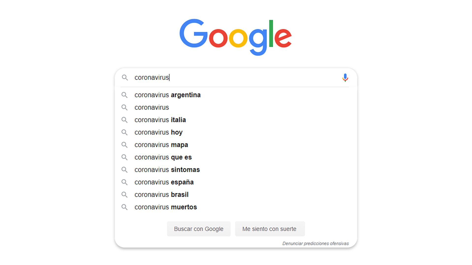 Qué es lo más buscado en Internet sobre el coronavirus - Infobae