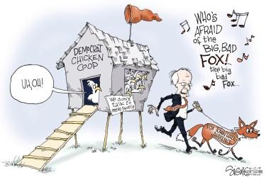 Political Cartoon: Bernie Sanders Fox News town hall