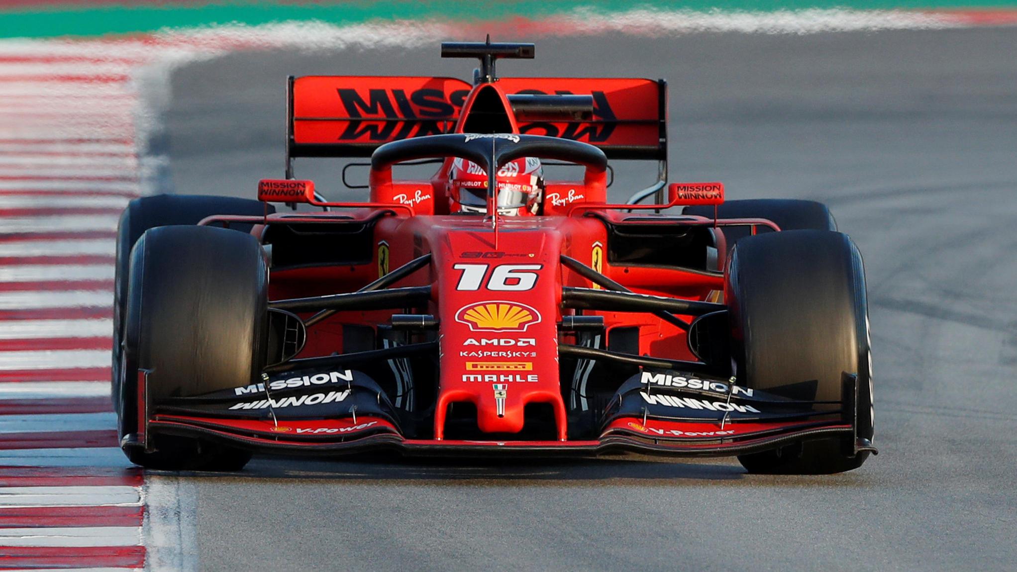 Formel 1 Testfahrten Sebastian Vettel Hat In Charles