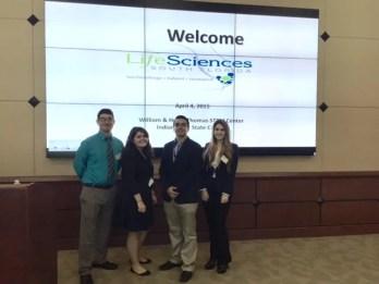 FIU STEM Students, Lararo Mesa, Andres Arango, Alejandra Vivas, and Elsa Bravo
