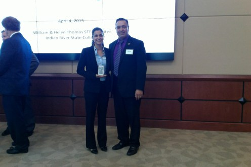 DOE Fellow, Christine Wipfli (3rd place poster winner) and Dr. Lagos