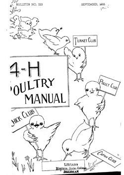4-H Poultry Manual, Montana State University (MSU