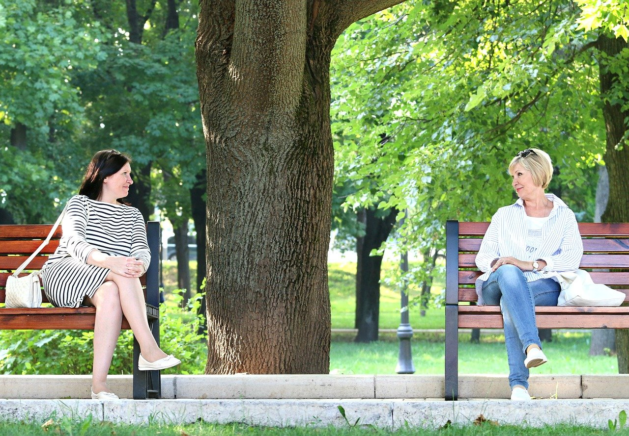 women, meeting, conversation