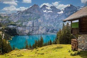 lake, mountains, hut-1681485.jpg