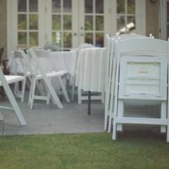 Folding Chair Rental Vancouver Jason Recliner Covers Australia White Padded Arcada Rentals