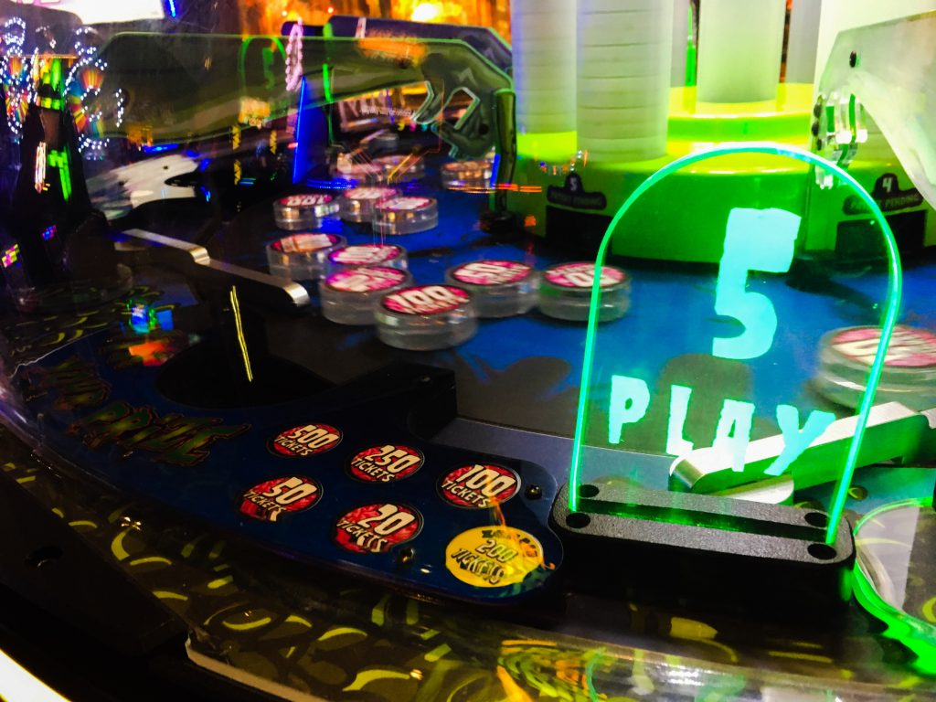 fifth player section on the zombie snatcher ticket redemption arcade game