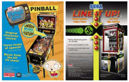 Arcade and Pinball Flyers