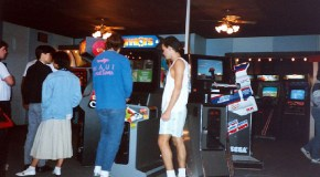 Hanging out at the arcade, 80's style