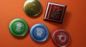 Arcade Related: Atari's Arcade Duo for iPad; Arcade pin set