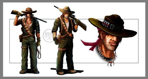 "Concept art for one of the in-game characters. Has a ""Crocodile Dundee"" vibe to him"