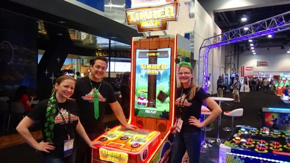 The Barron Games team with their new Timber Man videmption game.
