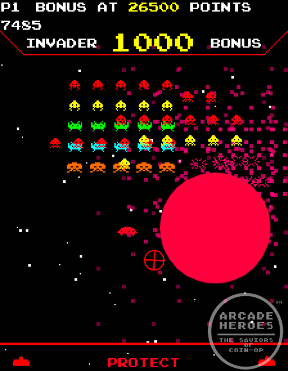 Space Invaders Frenzy Bomb Explosion