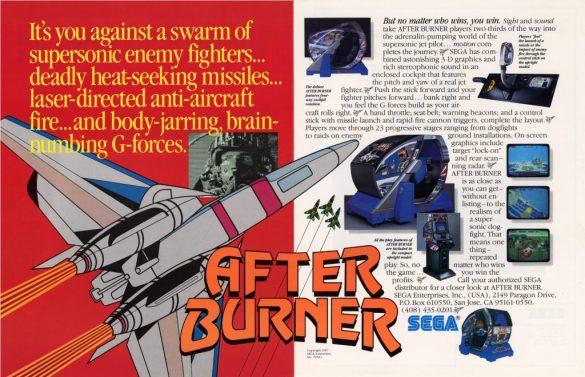 After Burner Flyer Sega
