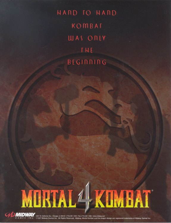 Mortal Kombat 4 Flyer
